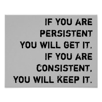persistent and consistent