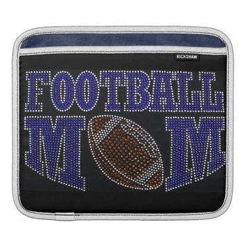 Bling Football Mom iPad Sleeve