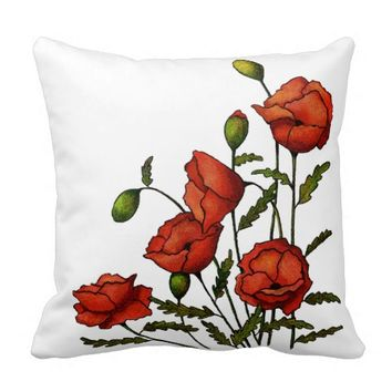 Red Poppy Flowers: Original Artwork