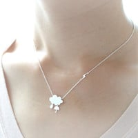 Cloud Necklace / choose your color / gold and silver