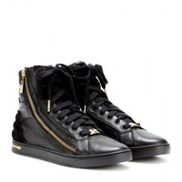 michael by michael kors - high-top leather sneakers