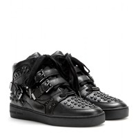 michael by michael kors - bryn embellished-leather sneakers