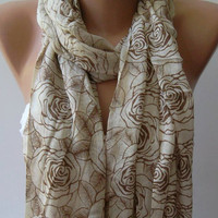 Shawl for Summer / Beige Shawl / Elegance Shawl / Scarf / soft and light