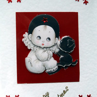 Christmas Card - Happy Christmas Hand-Crafted 3D Decoupage Card - Happy Christmas (1756)