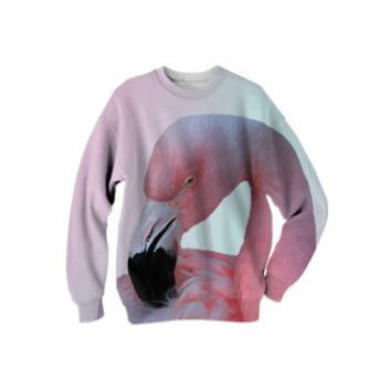 Pink Flamingo Sweatshirt created by ErikaKaisersot | Print All Over Me