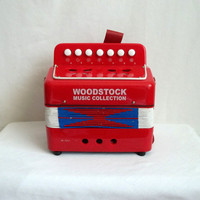 Red White &amp; Blue Woodstock Music Collection Accordion