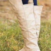 Walking Tall Boots-Taupe