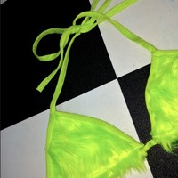 SWEET LORD O'MIGHTY! FURBAE TITS IN NEON YELLOW