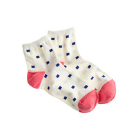 J.Crew Womens Cubic Ankle Socks