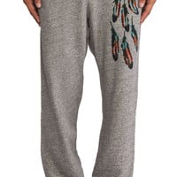 Burkman Bros. Feathers Fleece Pant in Gray