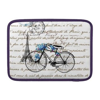 Paris Bicycle Forgetmenot MacBook Air Sleeve