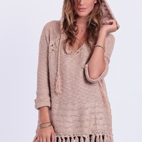 Call It A Day Fringe Sweater
