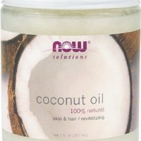 Now Foods Coconut Oil Pure, 7-Ounce (Pack of 2), Glass:Amazon:Beauty
