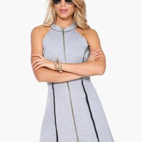 Neoprene Zip Up Dress