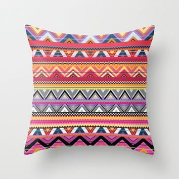 Aztec #6 Throw Pillow by Ornaart