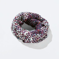 Mixed knit snood scarf