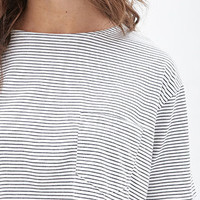 Boxy Striped Crop Top