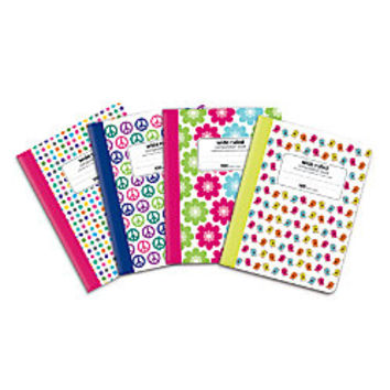 Office Depot Brand Fashion Composition Book 7 12 x 9 34 Wide Ruled 100 Sheets Assorted Designs No Design Choice by Office Depot