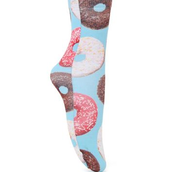 With Love From CA Photo Real Donut Boot Socks - Womens Scarves - Multi - One