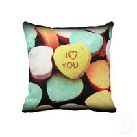Love Candy Pillow from Zazzle.com