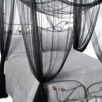 Majesty Bed Canopy in Black