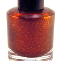 Of An Empire Nail Polish - Gorgeous Red Brown - Red and Gold Glitter - Full Size