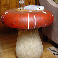 Oversized Mushroom Side Table