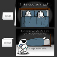 While you sleep - Greeting Card - The Oatmeal