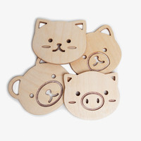 Animal Coasters Set
