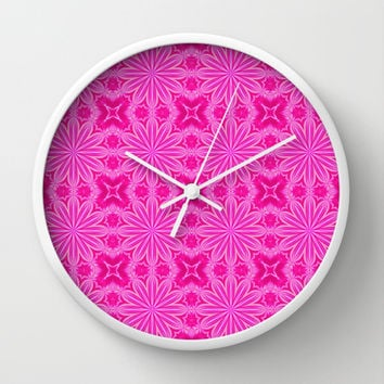 Hot Pink Fun Wall Clock by 2sweet4words Designs