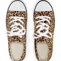 Leopard Canvas Sneaker