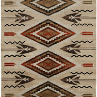 RugStudio presents Pendleton South West Fathers Eyes SW-14 Hand-Knotted, Good Quality Area Rug