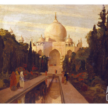 The Taj Mahal, 1879 Art Print by Valentine Cameron Prinsep at Art.com