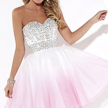 Short Strapless Sweetheart Babydoll Dress by Hannah S