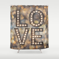 Love is the Light of Your Soul (LOVE lights) Shower Curtain by Soaring Anchor Designs ⚓