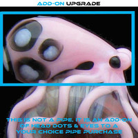 Color Octopus Double Layer Head Dots & Eye, Add-On for YOUR CHOICE Pipes, in Your Choice of Color