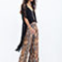 Abstract Printed Wide-Leg Pants