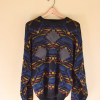 Vintage 90s Cosby Acrylic Knit Sweater Grunge