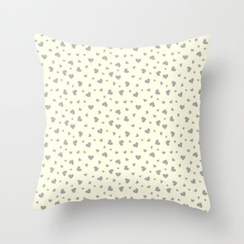 Hearts Pattern #2 Throw Pillow by Ornaart
