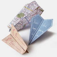 Paper-Airplane Cards - Father's Day Cards - Card-Making Center - MarthaStewart.com