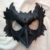 Made to Order -- Mormont&#x27;s Raven Leather Cosplay Mask, Game of Thrones Inspired