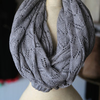 Simple Gray Scarf - ONE-SIZE