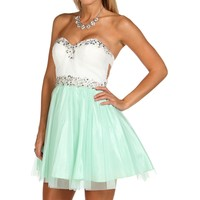 Addaley-Mint Homecoming Dress