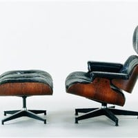Herman Miller Style Office Chair And Ottoman Set Black, Office Chair Ottoman Set: Nyfurnitureoutlets.com