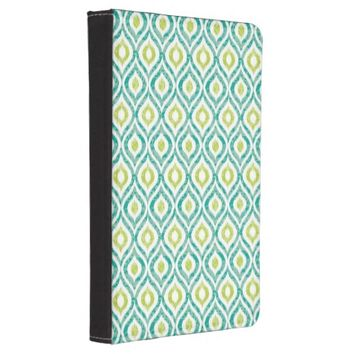 Teal Ikat Tribal Kindle Touch Case