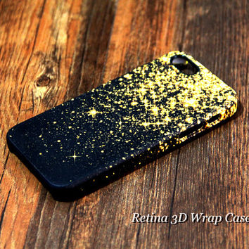 Gold Glitter D-Wrap Case iPhone 5S 5 5C 4S 4 Case iPhone Case | Ac.y.c