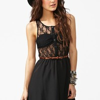 Ava Lace Dress - Black