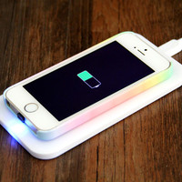 Qi Wireless Charging Pad +Wireless Charger Receiver for iPhone 5S/5C/5 | Ac.y.c