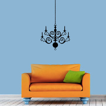 Chandelier Wall Decal - Home Decor - Dining Room - Living Room - Bedroom - High Quality Vinyl Graphic