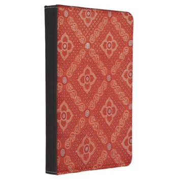 Orange Indian Brocade pattern Kindle Touch Case